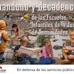 Abandono y decadencia de las Escuelas Infantiles de la Junta de Comunidades