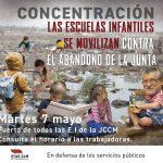 LAS ESCUELAS INFANTILES SE MOVILIZAN CONTRA EL ABANDONO DE LA JUNTA