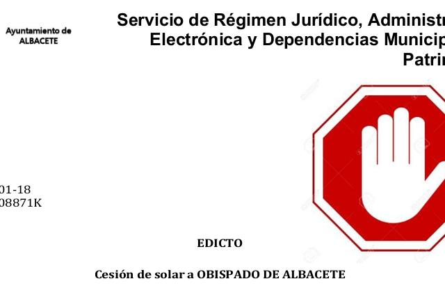 Intersindical-CLM (STE Y STAS) se opone a la cesión gratuita de suelo público al Obispado de Albacete