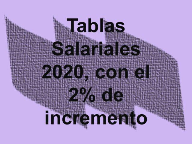 Tablas salariales del año 2020