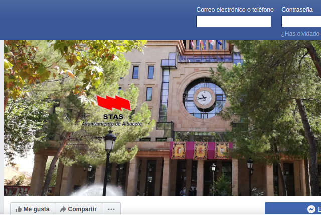 2 años en Facebook informando y compartiendo actualidad del STAS en el Ayuntamiento de Albacete