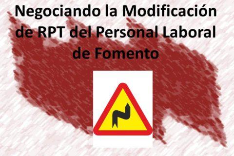 Grupo de Trabajo de la RPT de Personal Laboral de Fomento