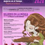 Jueves 6 de febrero a las 20:30 en Toledo Presentación Calendario Tiempo de Mujeres, mujeres en el tiempo, este año dedicado a Mujeres en la música.