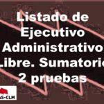 Listado sumatorio de notas de Administrativo Libre de las 2 pruebas