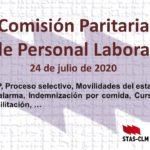 Comisión Paritaria de Personal Laboral del 24 de julio