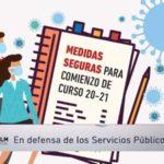 MEDIDAS PREVENTIVAS COVID19 CENTROS EDUCATIVOS: Manual, Protocolo Vulnerabilidad y Fichas de evaluación de personal no docente