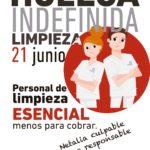 ✊ HUELGA INDEFINIDA | Servicio de Limpieza en los SSCC de las Consejerías de Sanidad y Bienestar Social